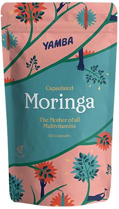 Capsulated Moringa packaging
