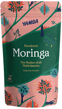 Powdered Moringa packaging