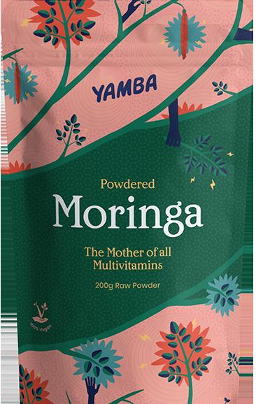 Yamba powdered moringa 500g packaging.