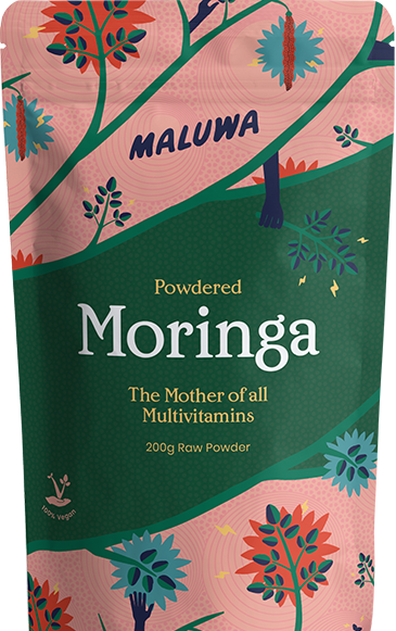 Maluwa powdered moringa 500g packaging.